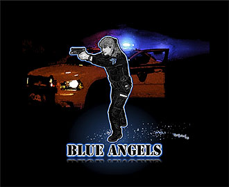 Rose Borisow Grafx Police Art C O P S Print And Blue Angels