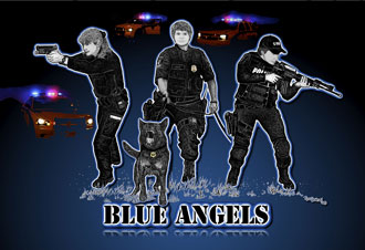Rose Borisow Grafx Police Art Blue Angels Prints