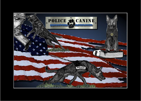 Rose Borisow Grafx Police Art K9 Prints Law Enforcement